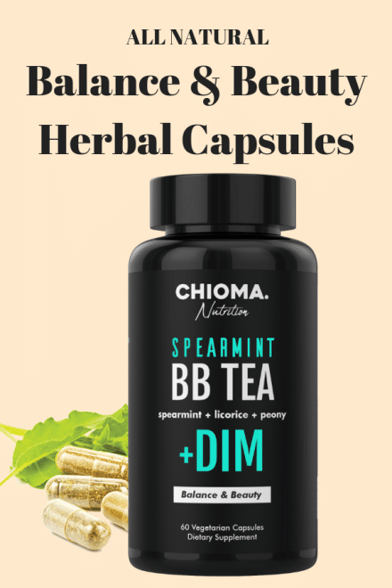 spearmint bb tea balance and beauty herbal capsules